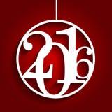 Ejemplo 2016 del vector del número del alfabeto de la Navidad Foto de archivo