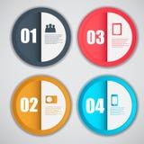 Ejemplo del vector del negocio de la plantilla de Infographic Imagen de archivo libre de regalías