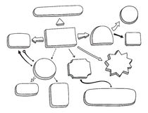 Ejemplo del vector del organigrama stock de ilustración