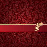 Ejemplo del vector del ornamento de las plumas Fotos de archivo libres de regalías