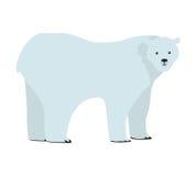 Ejemplo del vector del oso polar en diseño plano Fotografía de archivo