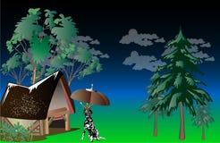 Ejemplo del vector del paisaje Imágenes de archivo libres de regalías