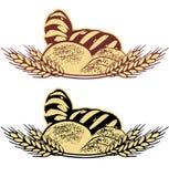 Ejemplo del vector del pan del trigo en dos colores Fotos de archivo