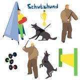 Ejemplo del vector del perro de trabajo Imágenes de archivo libres de regalías