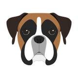 Ejemplo del vector del perro del boxeador Foto de archivo