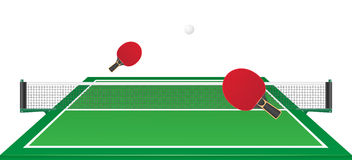 Ejemplo del vector del ping-pong de los tenis de mesa Foto de archivo libre de regalías
