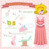 Ejemplo del vector del planeamiento del embarazo Fotografía de archivo libre de regalías