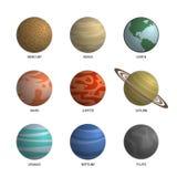 Ejemplo del vector del planeta de Colorfull Imágenes de archivo libres de regalías