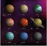 Ejemplo del vector del planeta de Colorfull Imagen de archivo