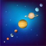 Ejemplo del vector del planeta de Colorfull Fotografía de archivo libre de regalías