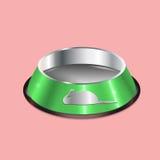 Ejemplo del vector del plato del animal doméstico del cromo Fotos de archivo libres de regalías