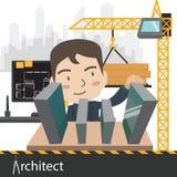 Ejemplo del vector del proyecto de trabajo del arquitecto Imagen de archivo