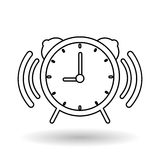 Ejemplo del vector del reloj, icono del vector Fotografía de archivo libre de regalías