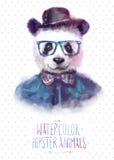 Ejemplo del vector del retrato de la panda adentro Foto de archivo