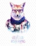 Ejemplo del vector del retrato del zorro rojo adentro Imagen de archivo libre de regalías