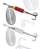 Ejemplo del vector del señuelo artificial de la pesca libre illustration