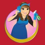 Ejemplo del vector del servicio de la limpieza Imagen de archivo