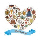 Ejemplo del vector del sistema de elementos de Oktoberfest Fotografía de archivo