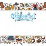 Ejemplo del vector del sistema de elementos de Oktoberfest Fotografía de archivo libre de regalías