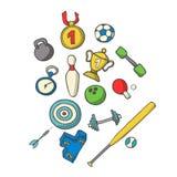 Ejemplo del vector del sistema de los deportes Mano-ahogue el bosquejo de los objetos SP Imágenes de archivo libres de regalías