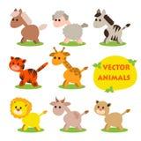 Ejemplo del vector del sistema lindo del animal stock de ilustración