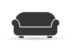 Ejemplo del vector del sofá Foto de archivo libre de regalías