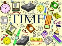 Ejemplo del vector del tiempo Imagen de archivo libre de regalías