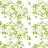 Ejemplo del vector del trébol en verde Fotos de archivo libres de regalías