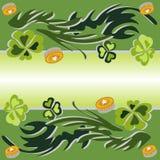 Ejemplo del vector del trébol en verde Foto de archivo libre de regalías