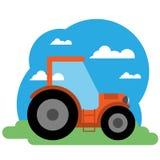 Ejemplo del vector del tractor Fotos de archivo libres de regalías