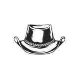 Ejemplo del vector del vaquero del sombrero Imagenes de archivo