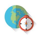 Ejemplo del vector del viaje, icono del vector Foto de archivo libre de regalías