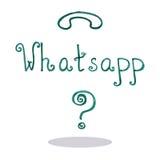 Ejemplo del vector del whatsapp del arte Imagen de archivo