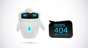 Ejemplo del vector, diseño de 404 páginas Foto de archivo libre de regalías