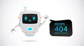 Ejemplo del vector, diseño de 404 páginas Fotografía de archivo