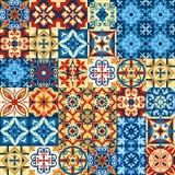 Ejemplo del vector del diseño decorativo del modelo de mosaico de la teja en estilo marroquí libre illustration