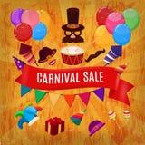 Ejemplo del vector del diseño del funfair del carnaval libre illustration