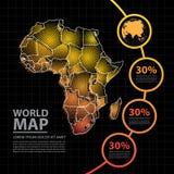 Ejemplo del vector del diseño del mapa de África Fotografía de archivo libre de regalías
