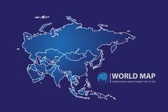 Ejemplo del vector del diseño del mapa de Asia Fotos de archivo libres de regalías