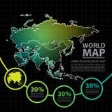 Ejemplo del vector del diseño del mapa de Asia Fotos de archivo