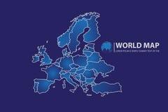 Ejemplo del vector del diseño del mapa de Europa Foto de archivo