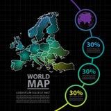 Ejemplo del vector del diseño del mapa de Europa Fotografía de archivo libre de regalías
