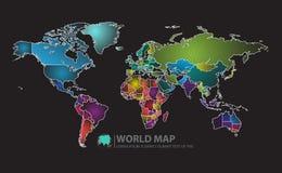 Ejemplo del vector del diseño del mapa de Norteamérica Fotos de archivo