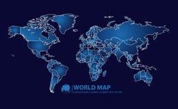Ejemplo del vector del diseño del mapa del mundo Imagenes de archivo