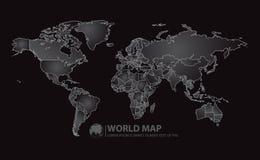 Ejemplo del vector del diseño del mapa del mundo Imagen de archivo