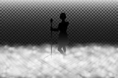 Ejemplo del vector del efecto de la máquina de humo, humo escénico o efecto especial realista de la niebla de la etapa libre illustration
