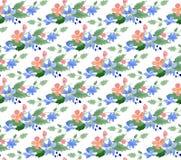 Ejemplo del vector - el modelo inconsútil con la acuarela florece Imágenes de archivo libres de regalías