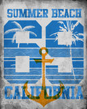 Ejemplo del vector en el tema de California Tipografía, t-sh Imagen de archivo libre de regalías