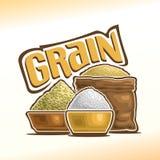 Ejemplo del vector en el tema del grano stock de ilustración
