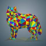 Ejemplo del vector en estilo poligonal Fotografía de archivo